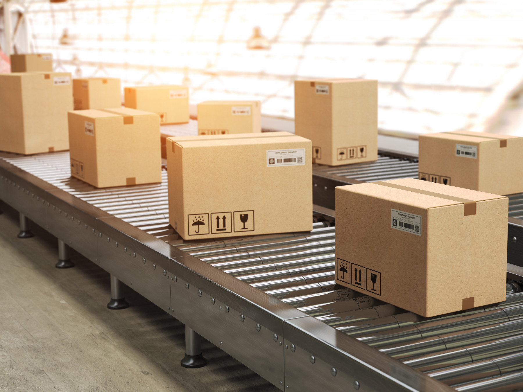 Shipping and fulfillment logistics for improved production processes.