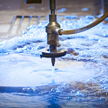 Water jet cutting machines for materials converting.